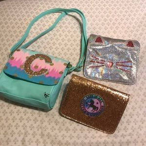 Justice unicorn and cat purse! 3 in 1 purse